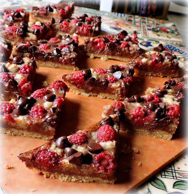 Chocolate Raspberry Pie Bars