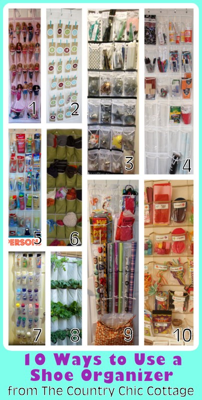 Try these 10 ways to use a shoe organizer in your home!