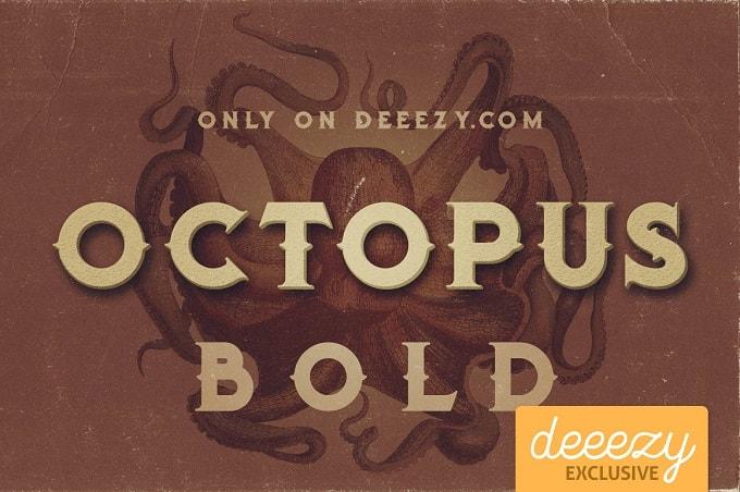 Font Edisi Januari 2017 - Octopus Bold Font