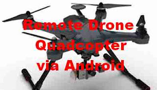 cara remote drone quadcopter via android