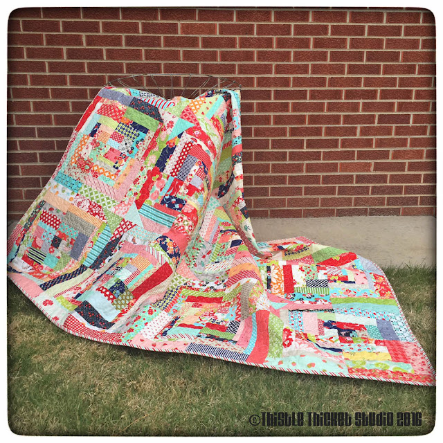 Thistle Thicket Studio, Bonnie and Camille, log cabin swap, log cabin quilt