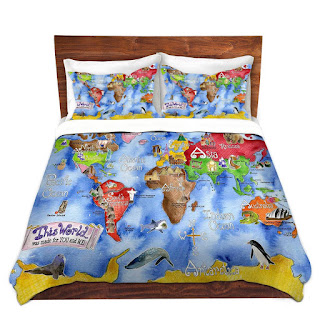 World map themed comforter and bedding sets color it is old world map themed bedding gumiabroncs Gallery