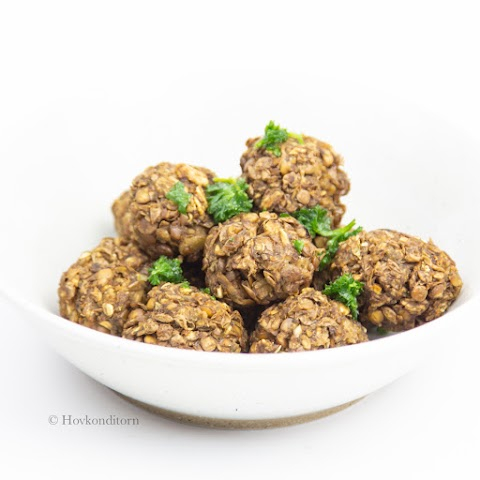 Lentil Mushroom Meatballs