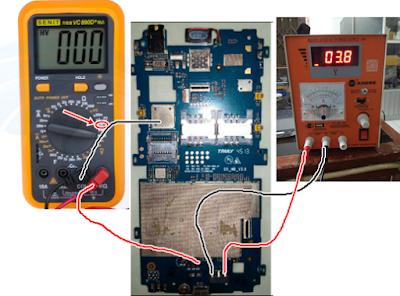 cara mengukur jalur vbat mengunakan multitester digital