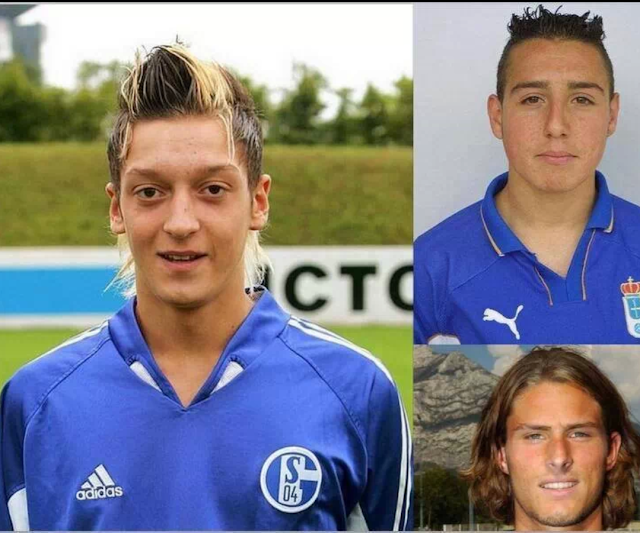 LOL: Old Skool pictures of Mesut Ozil, Santi Cazorla & Olivier Giroud