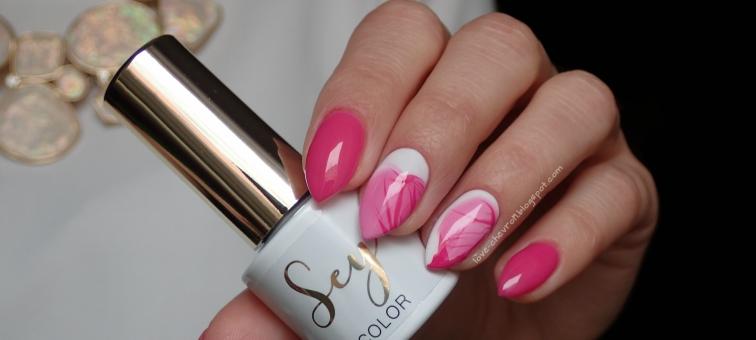 Cosmetics Zone | Sey | s162 Charming Pink | s001 Pure White | zdobienie lakier na wodzie | neonowe paznokcie | różowe paznokcie | zdobienie na paznokciach | zdobienia na migdałkach | paznokcie na lato |