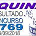 Resultado da Quina concurso 4769 (05/09/2018) ACUMULOU!!!