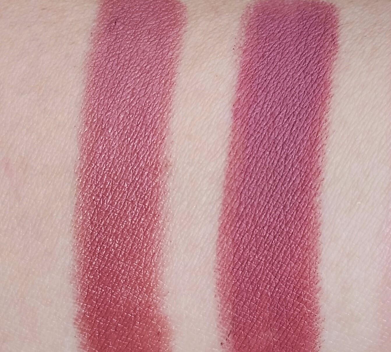 4faca99e7b8 Left: Covergirl Jumbo Gloss Balm Cream in Berries 'n Cream Right: Colourpop  Lippie Stix in Lumiere