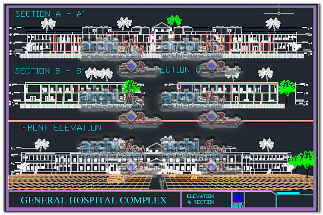 - North façade 7th level hospital dwg