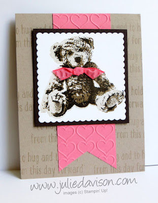 Stampin' Up! Baby Bear Card Idea #stampinup NEW Catalog www.juliedavison.com