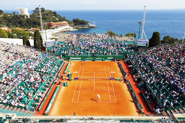 arial photo of Monte-Carlo Rolex Masters at Monte-Carlo Country Club