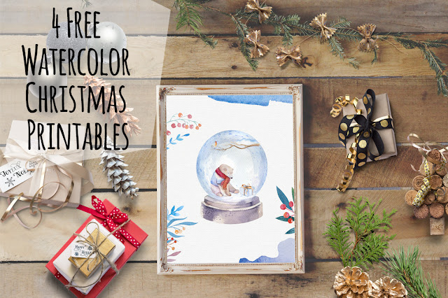 DLOLLEYS HELP: 4 Free Watercolor Christmas Printables