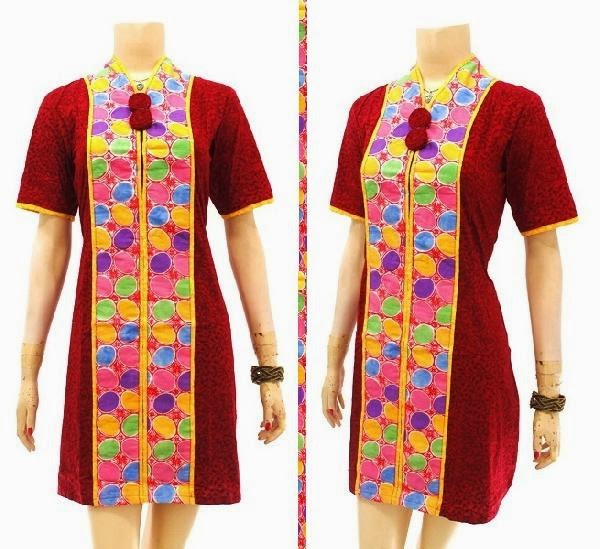 Model Baju Batik Modern Dress: Model Baju Dress Batik Solo KODE : DB 3744