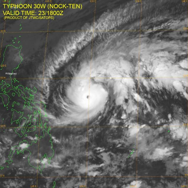 Typhoon Nina Satellite Imagery JTWC