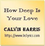 How Deep Is Your Love | Calvin Harris | Disciples