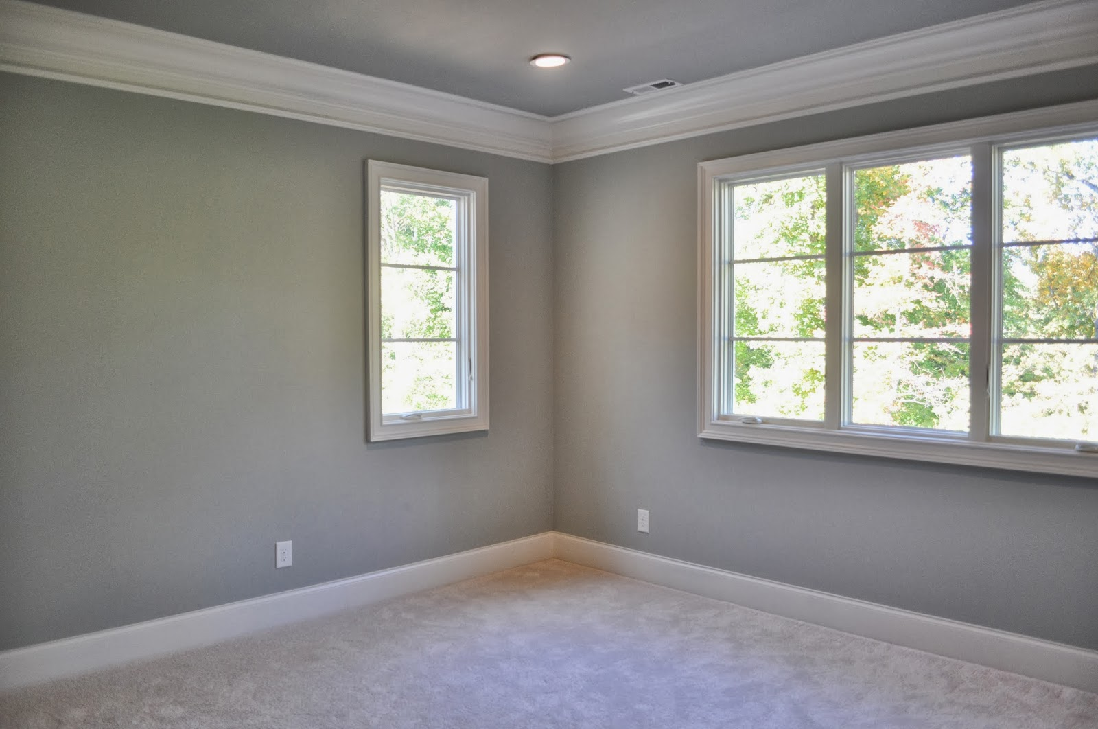 pretty gray wall color in master bedroom