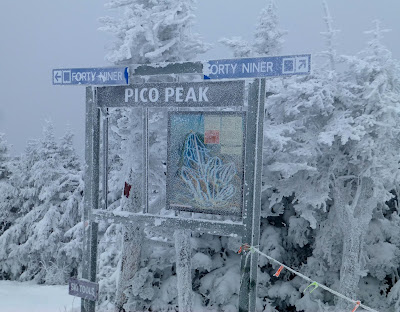 Pico Mountain, VT, Saturday 12/16/2017.  The Saratoga Skier and Hiker, first-hand accounts of adventures in the Adirondacks and beyond, and Gore Mountain ski blog.