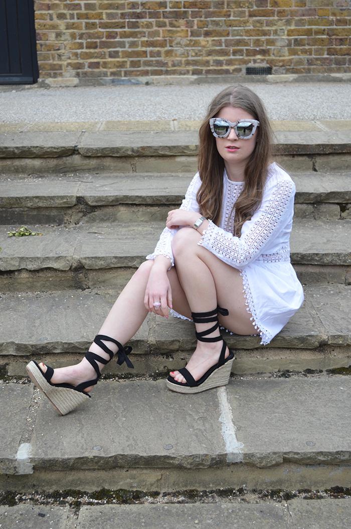 white playsuit ASOS fashion bloggers