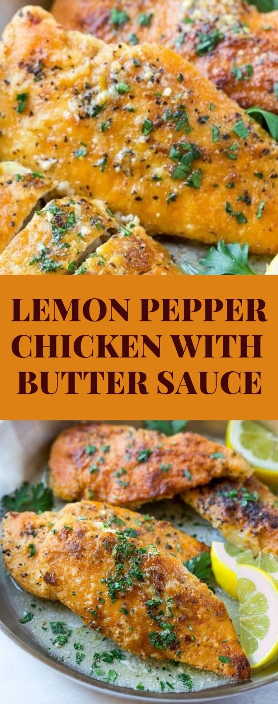 Lemon Pepper Chicken with Butter Sauce