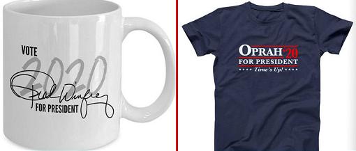 Oprah Winfrey campaign materials
