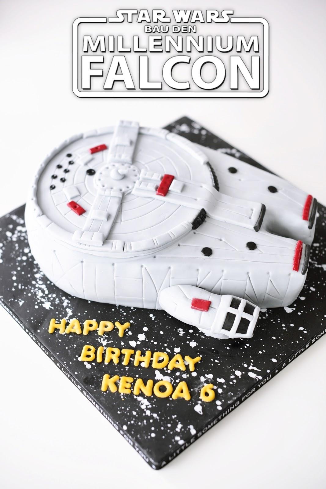 Kessy S Pink Sugar Millennium Falcon Star Wars Cake 3 D Torte