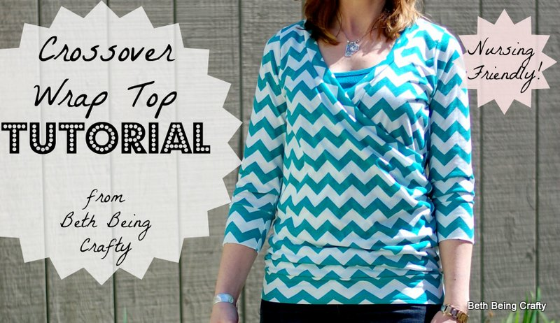 Beth Being Crafty Crossover Wrap Top Tutorial