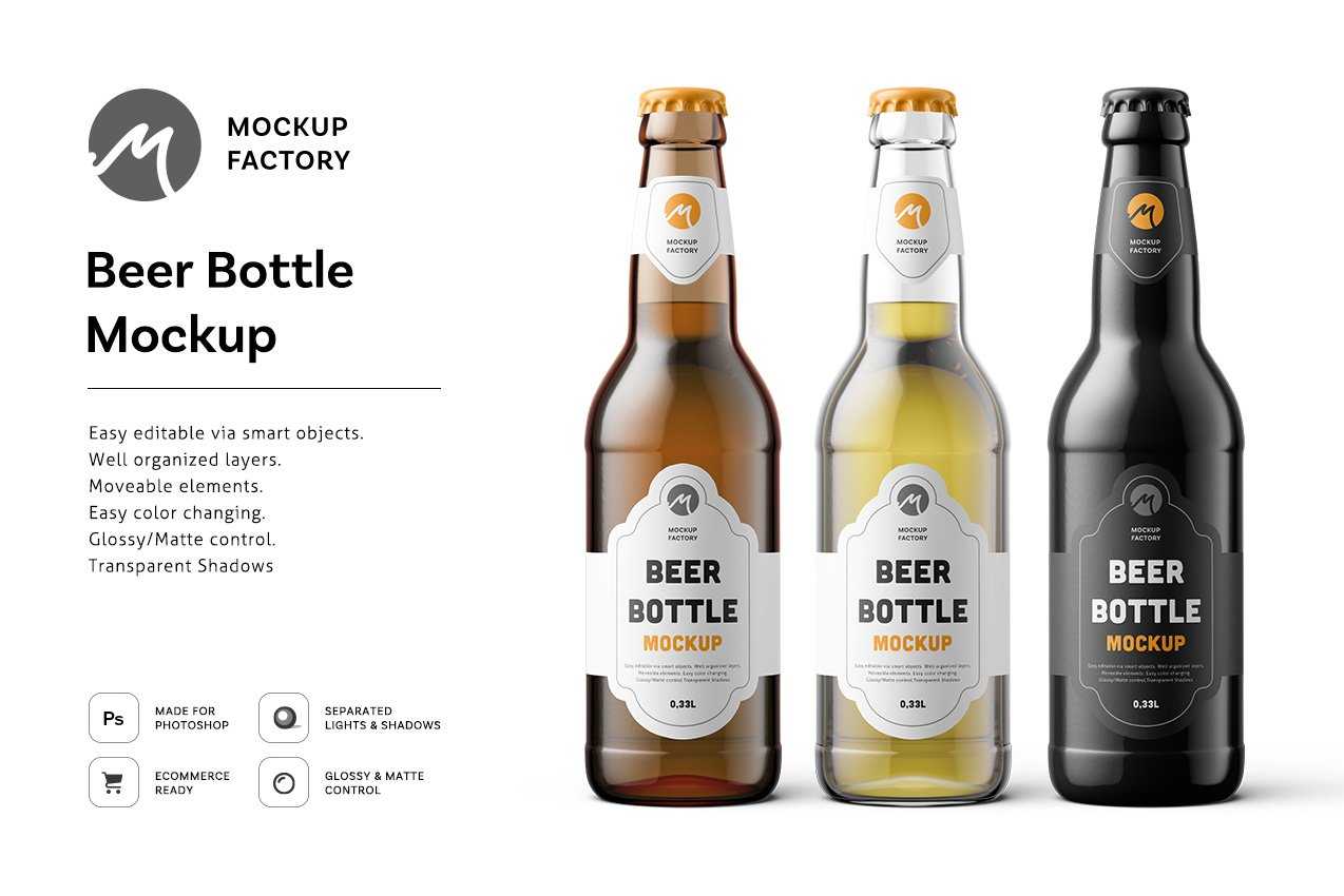 Time-limited Premium Freebie: Beer Bottle Mockup