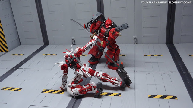 Astray Red Frame Gundam VS Full Bullet Zaku Prototype