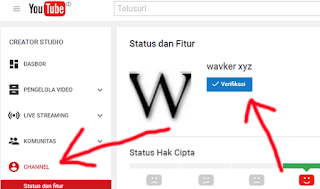 verifikasi chanel Youtube