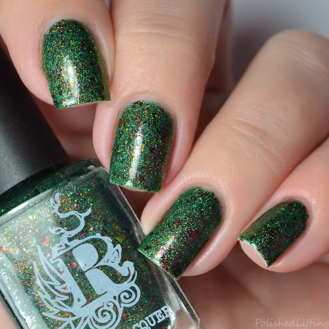 deep green holographic nail polish