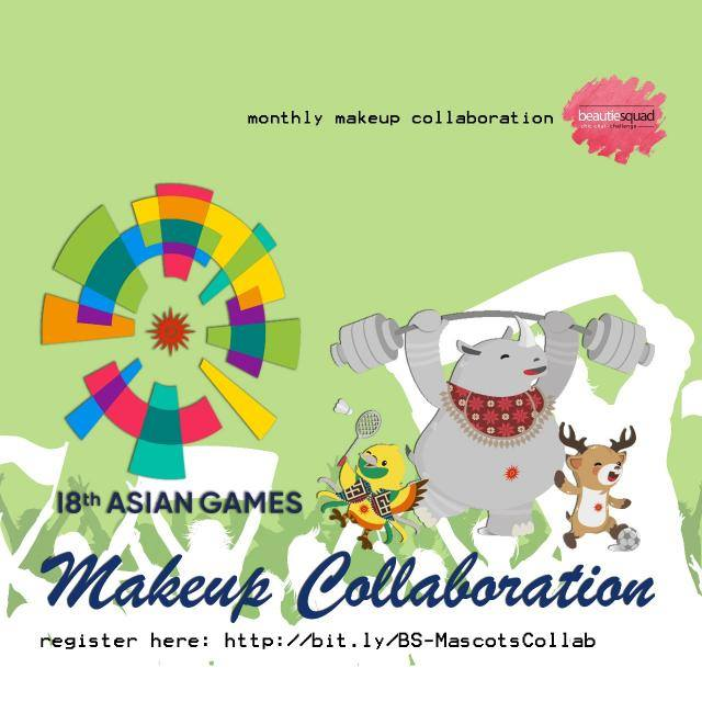 ATUNG ASIAN GAMES MASCOT MAKEUP COLLABORATION