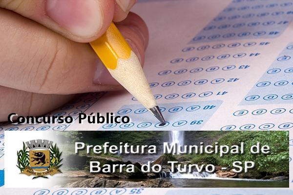 Edital concurso Prefeitura de Barra do Turvo - SP