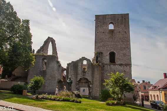 Iglesia en ruinas en Visby en Gotland