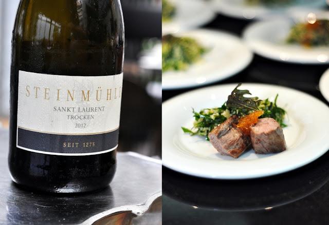 Taboulet mit Lammfilet und Sankt Laurent trocken Jahrgang 2012 aus dem Weingut Steinmühle