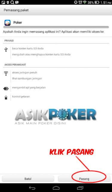 cara install poker online di android