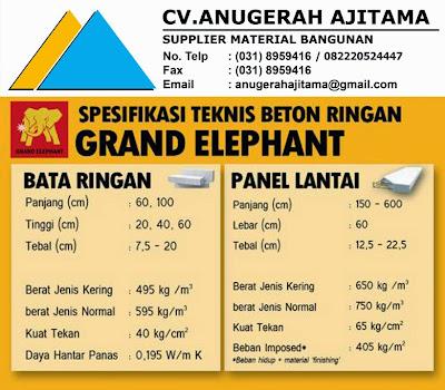 SPESIFIKASI BATA RINGAN GRAND ELEPHANT
