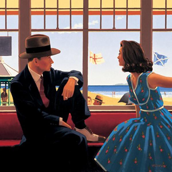 Edith e o Rei - Jack Vettriano e suas pinturas cheias de encontros íntimos