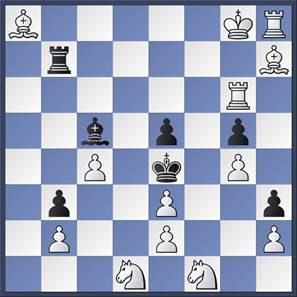Problema de ajedrez de Karl Fabel, Blancas juegan y no dan mate