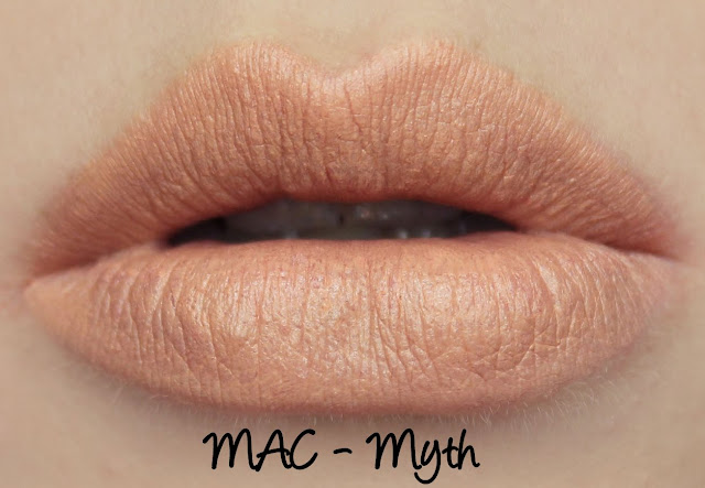 MAC Myth Lipstick Swatches & Review