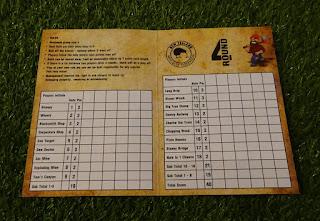 A scorecard from the New Zealand Mini Golf Pro League played at Lumberjax Mini Golf