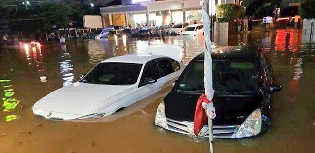 Banjir Kemang (Twitter TMC Polda Metrojaya)