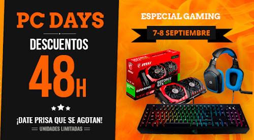 PC Days PCComponentes 7 y 8 de septiembre