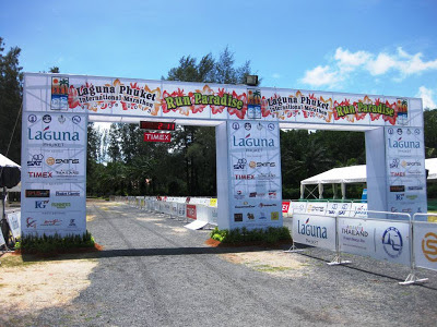 Laguna Phuket Marathon start and finish line, yesterday
