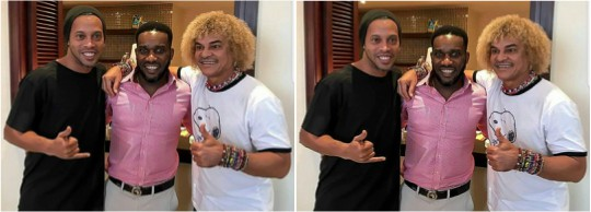 JUST IN: Jay Jay Okacha is the only 'no 10' player I've always admired -Ronaldinho Says