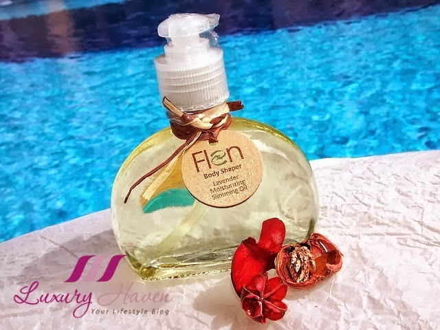flen body shaper lavender moisturizing slimming oil