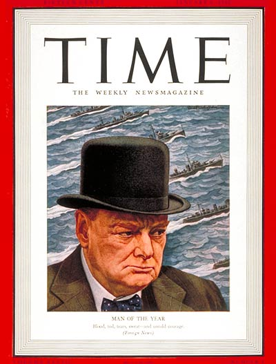6 January 1941 worldwartwo.filminspector.com Time Magazine Winston Churchill cover