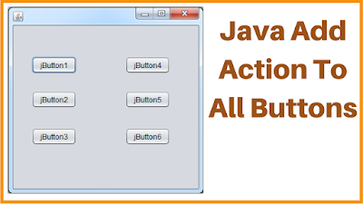 add action to all buttons in java