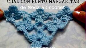 Cómo tejer chal al crochet en punto margarita paso a paso en video