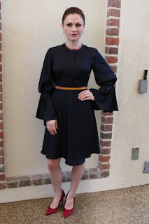 Anna Paquin At HFPA Offices In Los Angeles