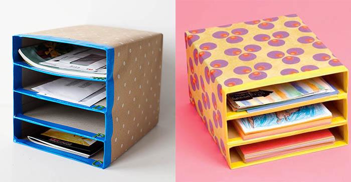 kutudan organizer örneği